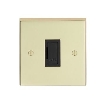 Stepped 13amp Unswitched Fuse Spur - brass, chrome or satin chrome