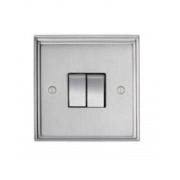 Stepped 2 Gang Switch  - brass or chrome or satin chrome