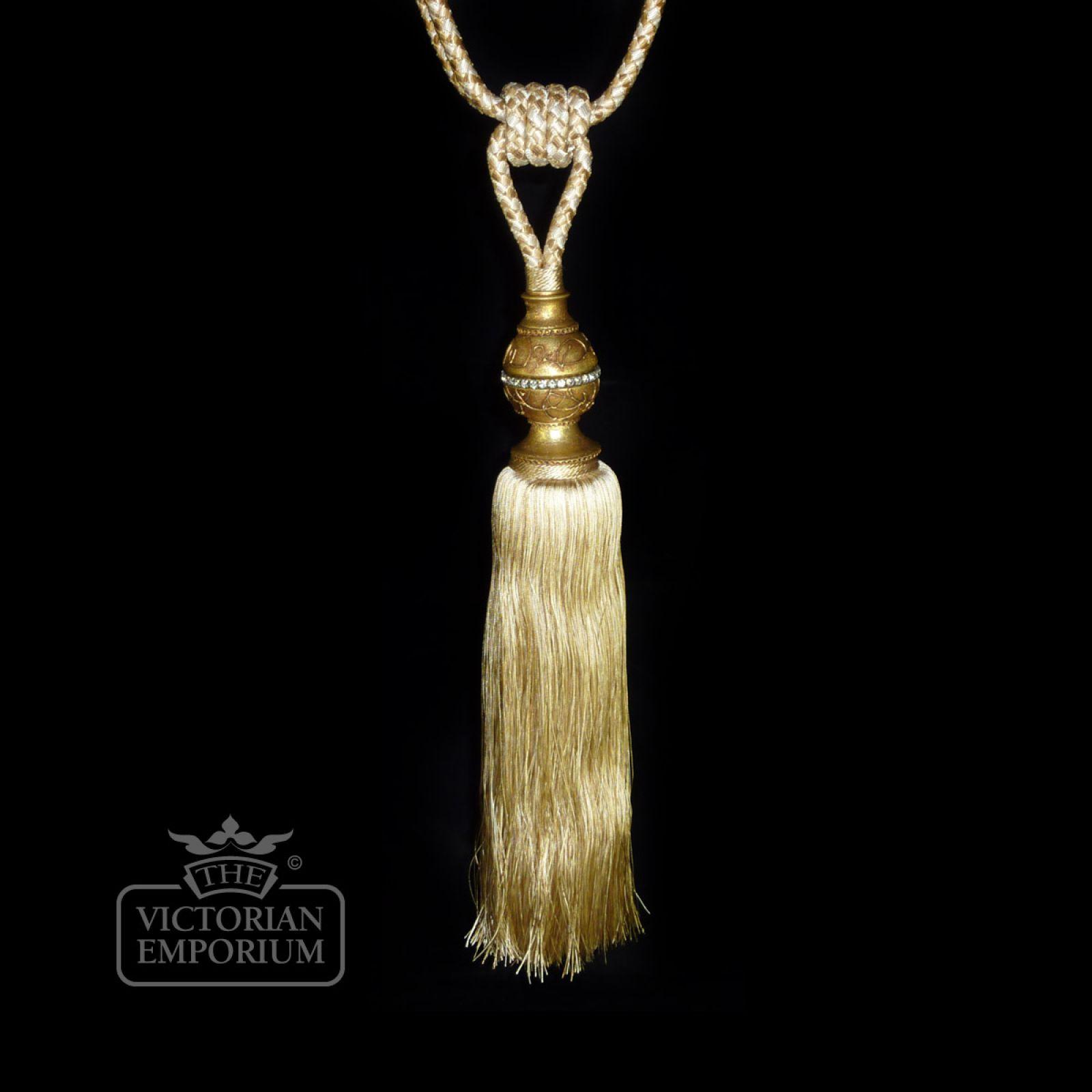 Crystal Tie Back Curtain Tie Backs The Victorian Emporium