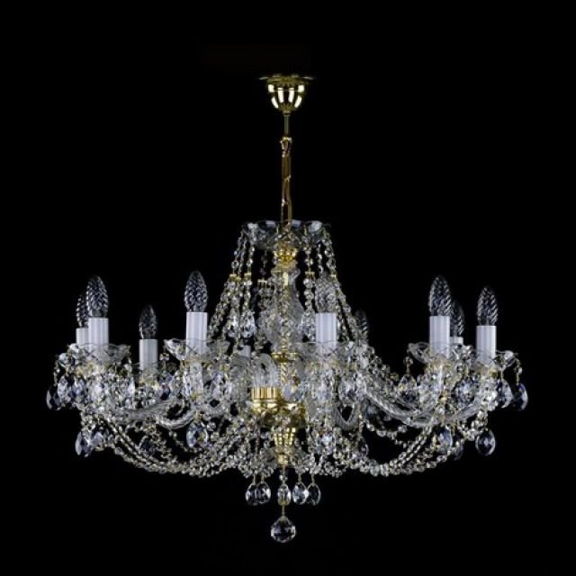 Medium traditional 10 arm chandelier