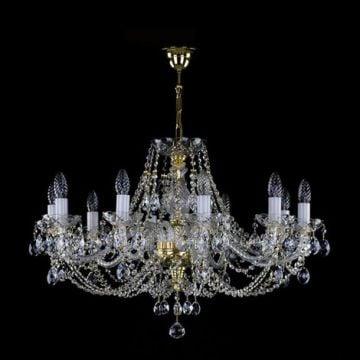 Medium traditional 10 arm chandelier