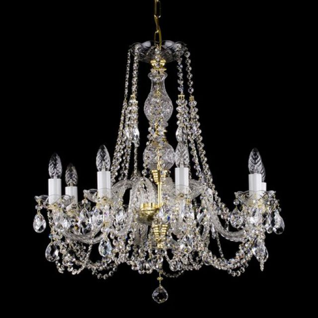 Medium traditional 8 arm chandelier