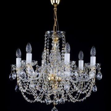 Small traditional 6 arm chandelier