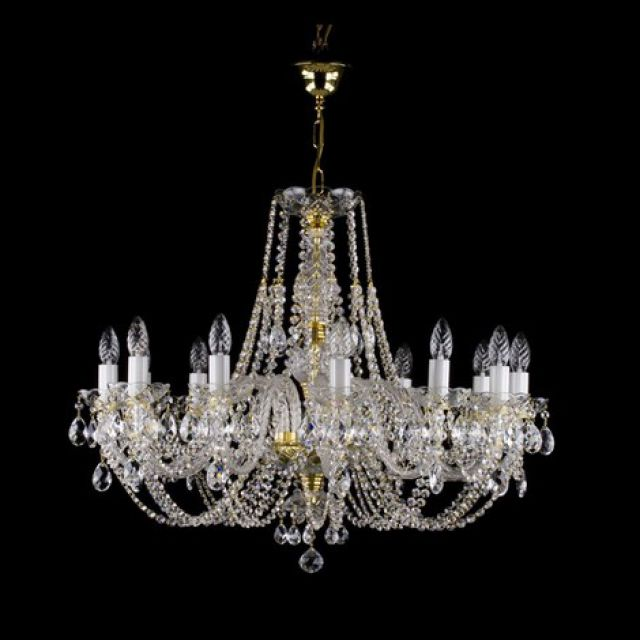 Medium traditional 12 arm chandelier