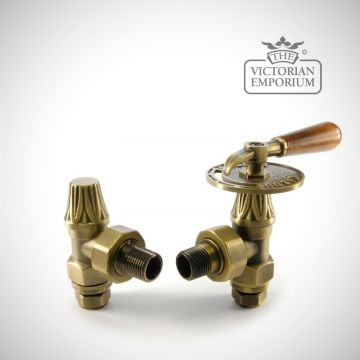 "Steampunk style Throttle Manual Radiator valve set - 1/2"" or 3/4"" connection"