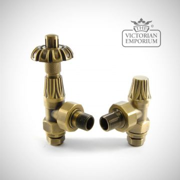 "Versailles Thermostatic Radiator valve set - 1/2"" or 3/4"" connection"