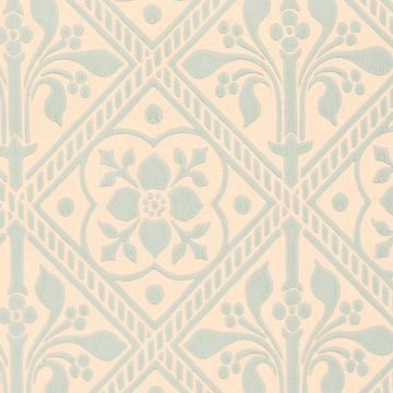 Trellis Wallpaper - Gummer Blue