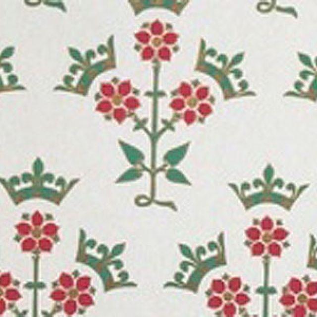 Rose & Coronet Wallpaper