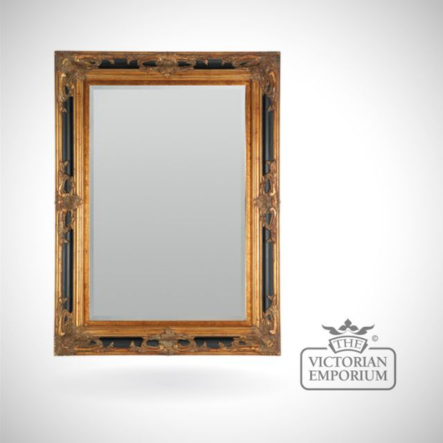 Sienna Mirror in Black and Gold in a choice of sizes