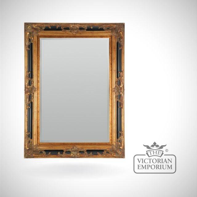 Sienna Mirror in Black and Gold - 117cm x 86cm