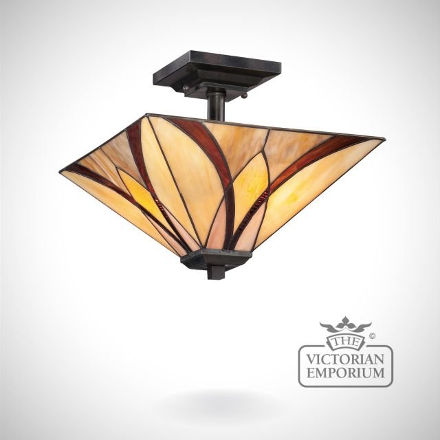 Tiffany Ashville Semi Flush ceiling light