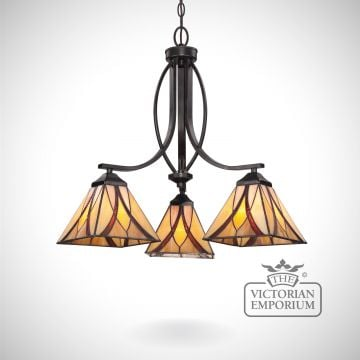 Tiffany Ashville 3 Light Chandelier