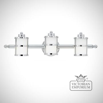 Tranquility Triple Bathroom Light in Polished Chrome