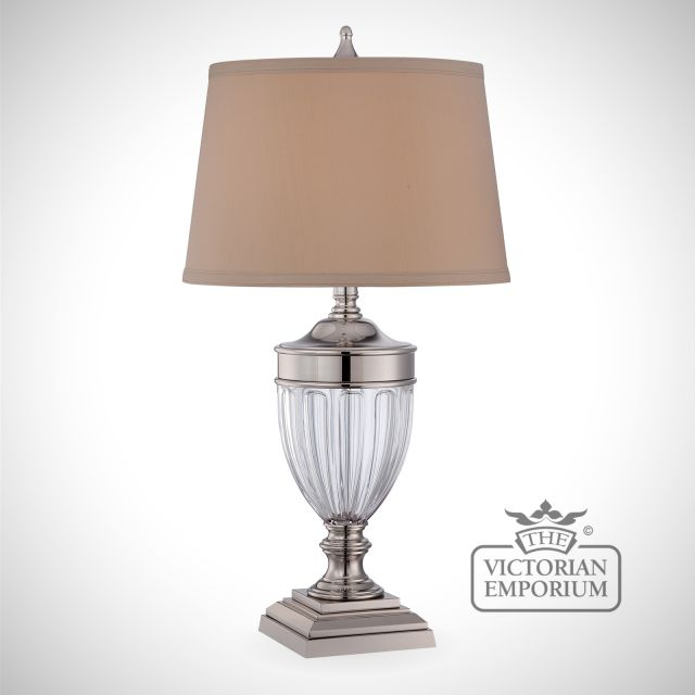 Dennison Table Lamp in Polished Nickel