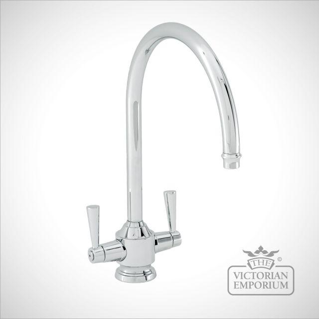Swan neck kitchen tap
