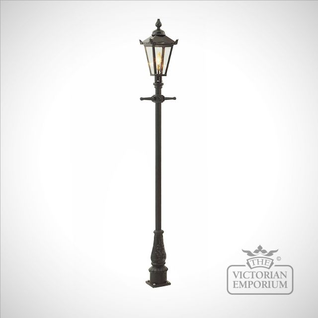 Lamp post 2160mm high and square steel lantern