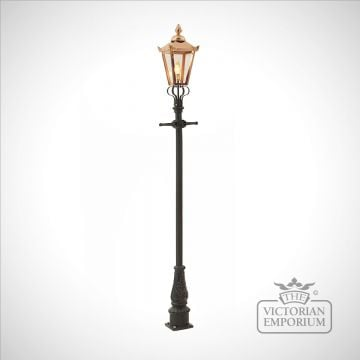 Lamp post 2310mm high  and copper square lantern