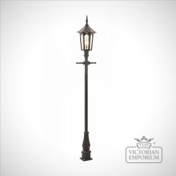 Lamp post 2260mm high and hexagonal cast alloy lantern