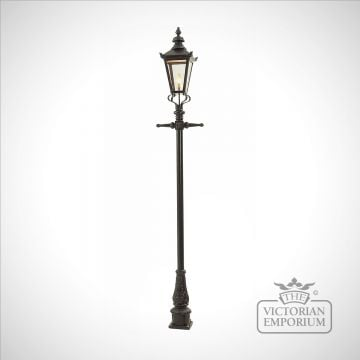 Lamp post 2770mm high and medium square steel lantern