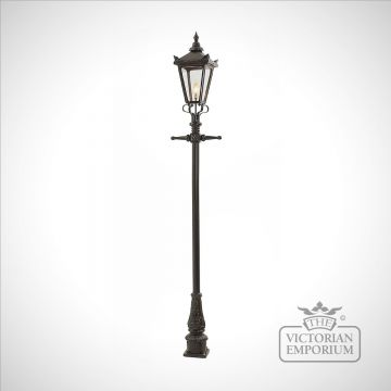 Lamp post 2720mm high and medium square cast alloy lantern