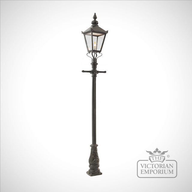 Lamp post 3125mm high and large square cast alloy lantern