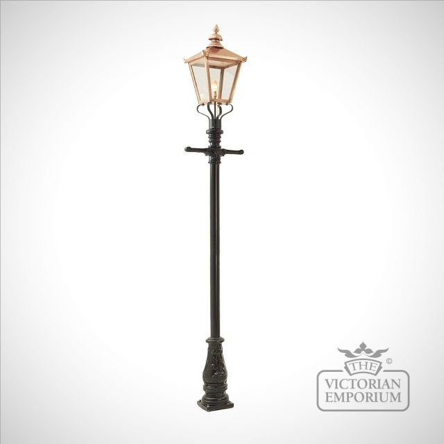 Lamp post 3050mm high and copper square lantern