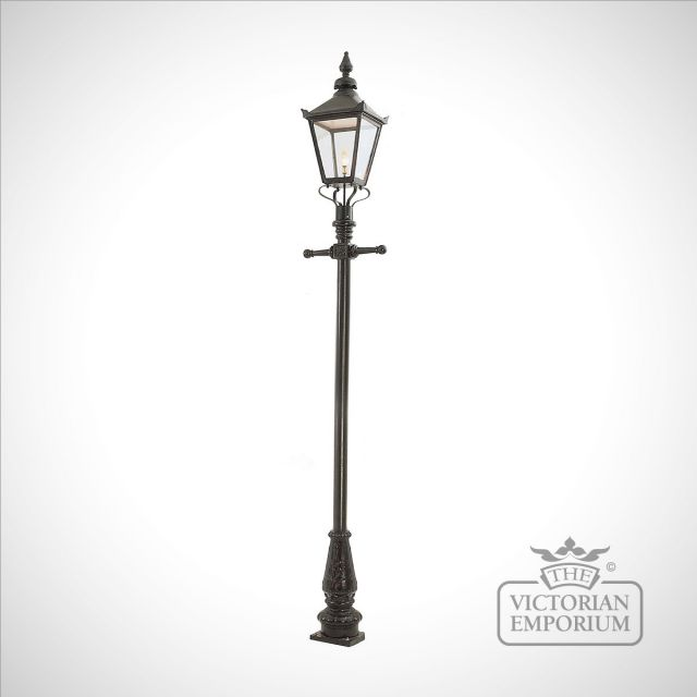 Lamp post 3375mm high and large square cast alloy lantern