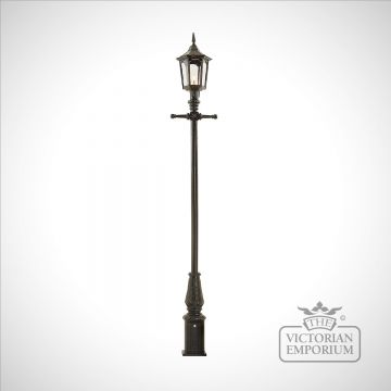 Lamp post 3325mm high and large hexagonal cast alloy lantern