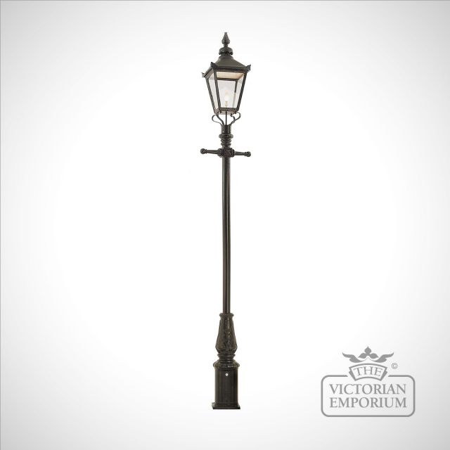Lamp post 3580mm high and large square cast alloy lantern