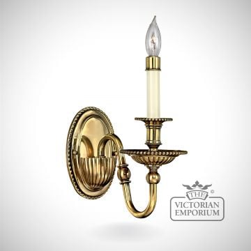 Cambridge single brass wall sconce