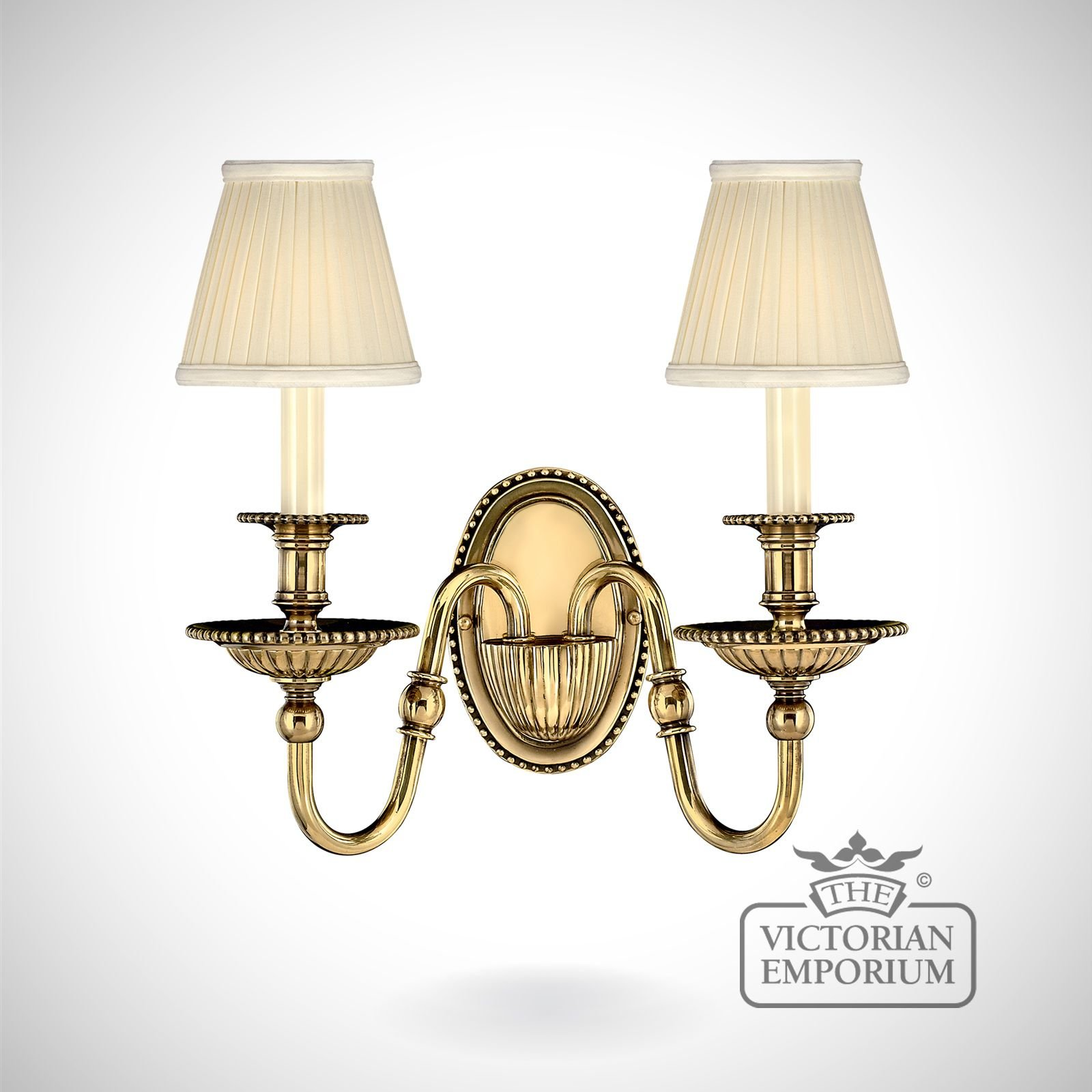 Cambridge Double Brass Wall Sconce Interior Wall Lights