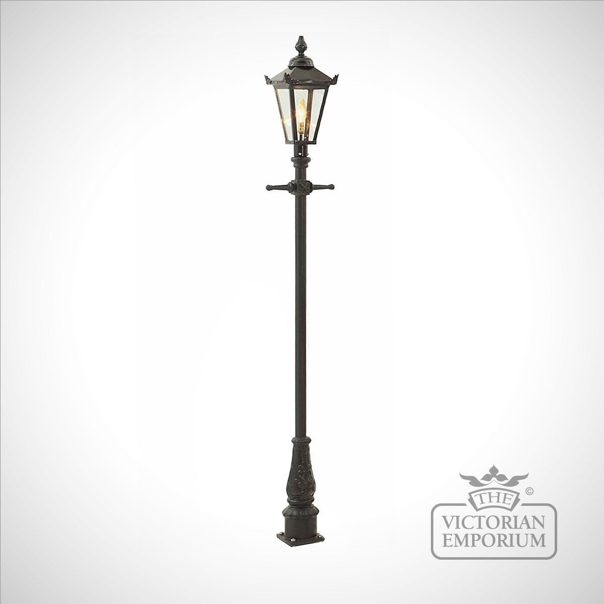 Lamp Post Style 1 And Square Stainless Steel Lantern