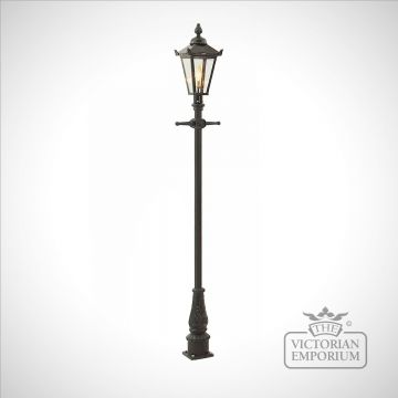 Lamp post 2160mm high and square stainless steel lantern