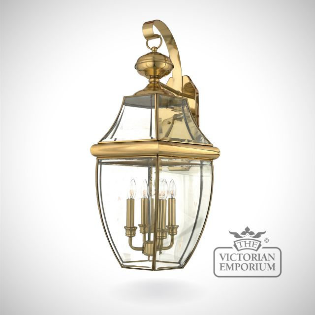 Newbury extra large wall light in Polished Brass