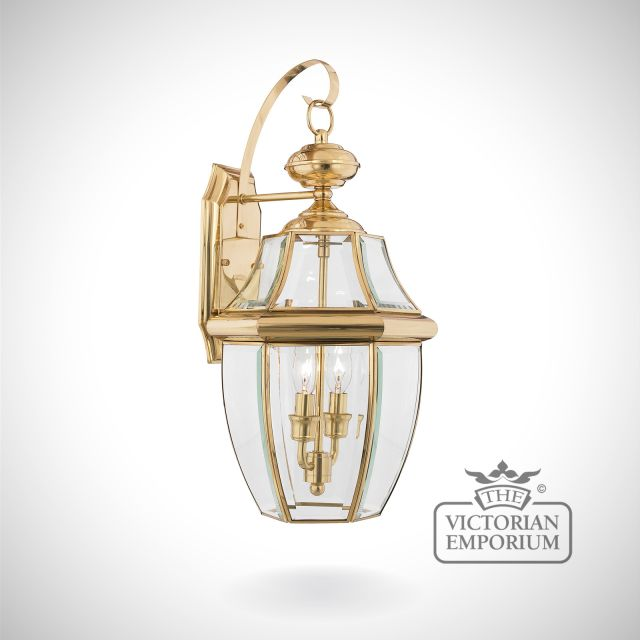 Newbury large wall light in Polished Brass