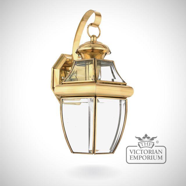 Newbury medium wall light in Polished Brass