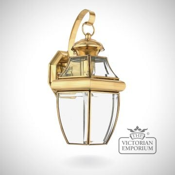 Newbury medium wall light in Polished Brass