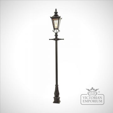 Lamp post 2770mm high and medium square stainless steel lantern