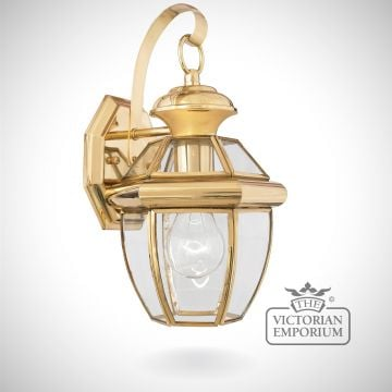 Newbury small wall light in Polished Brass