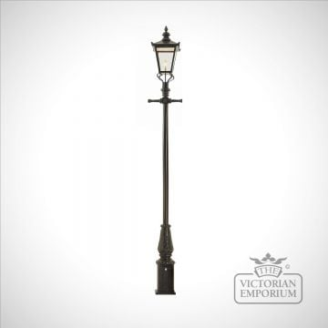 Lamp post 3505mm high and large square stainless steel lantern