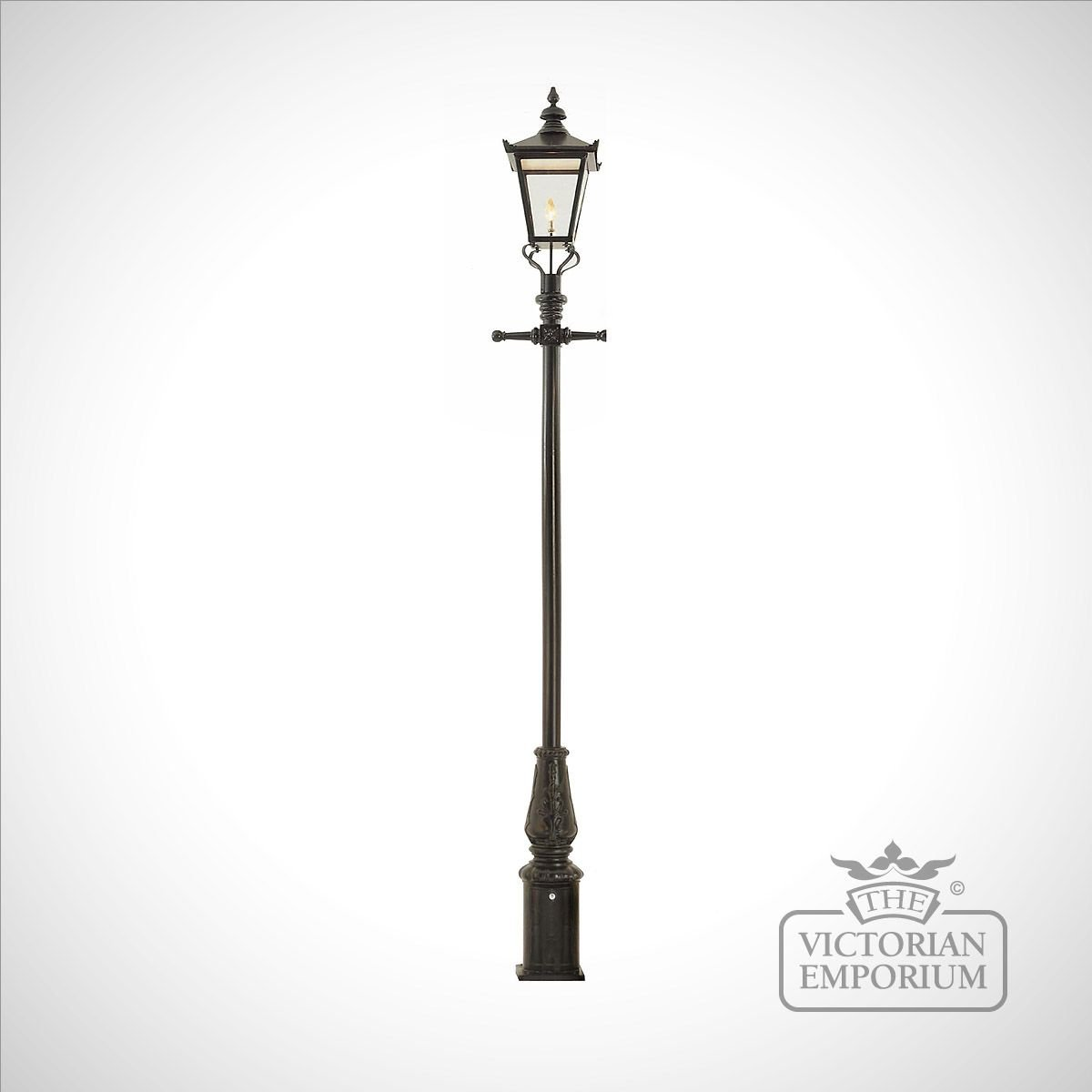 Lamp Post Style 5 And Extra Large Square Stainless Steel Lantern