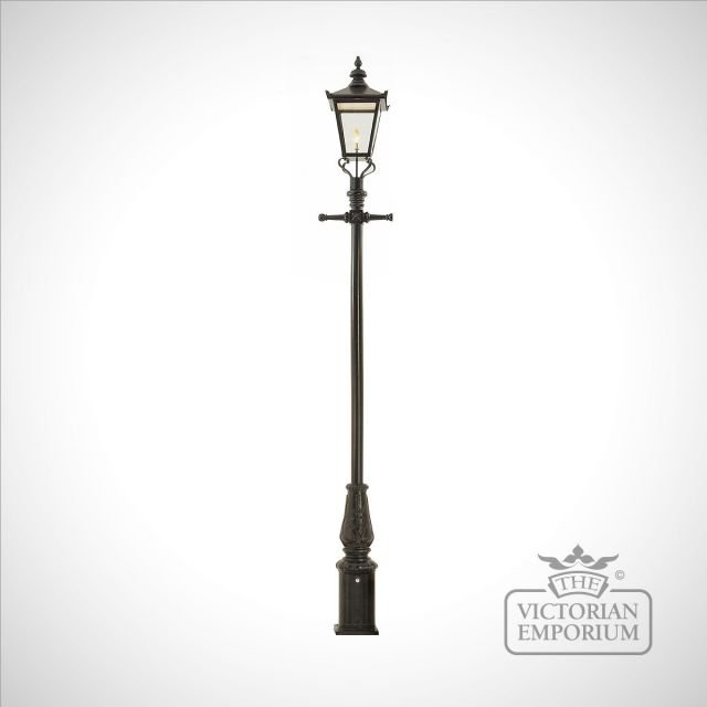 Lamp post 3580mm high and extra large square stainless steel lantern