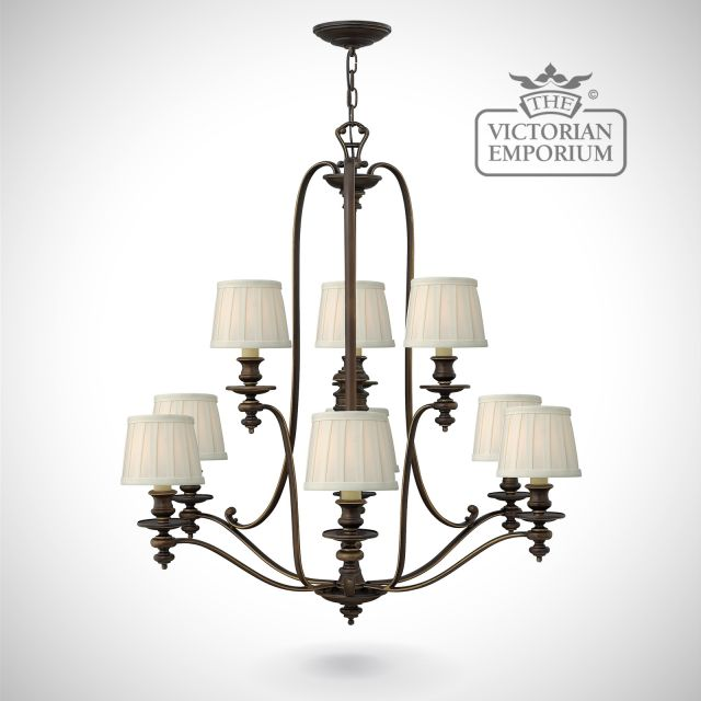 Dunhill 9 light chandelier