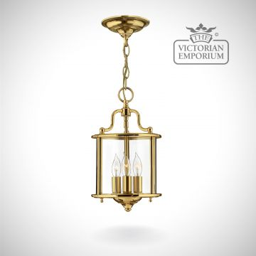 Gentry small pendant in polished brass