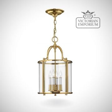 Gentry medium pendant in polished brass