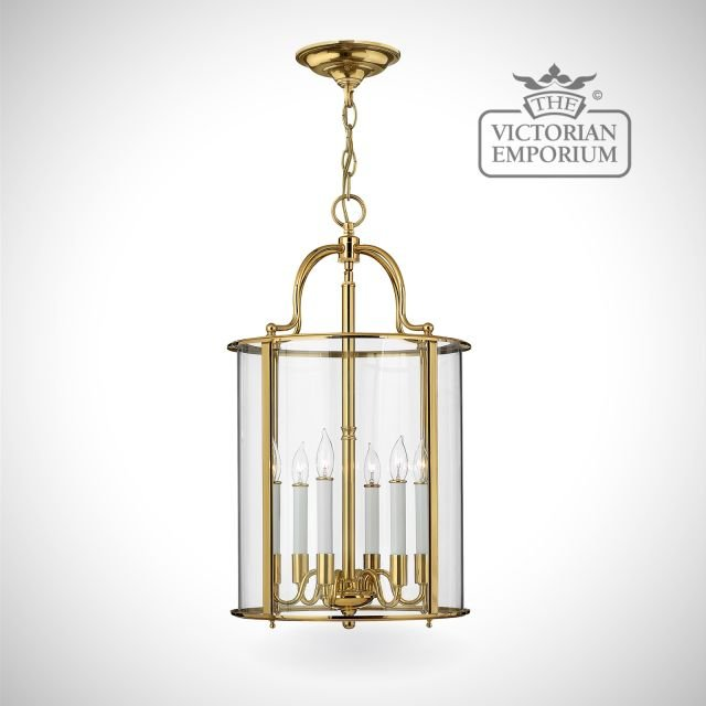Gentry large pendant in polished brass