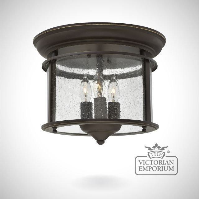 Gentry flush mount light in old bronze