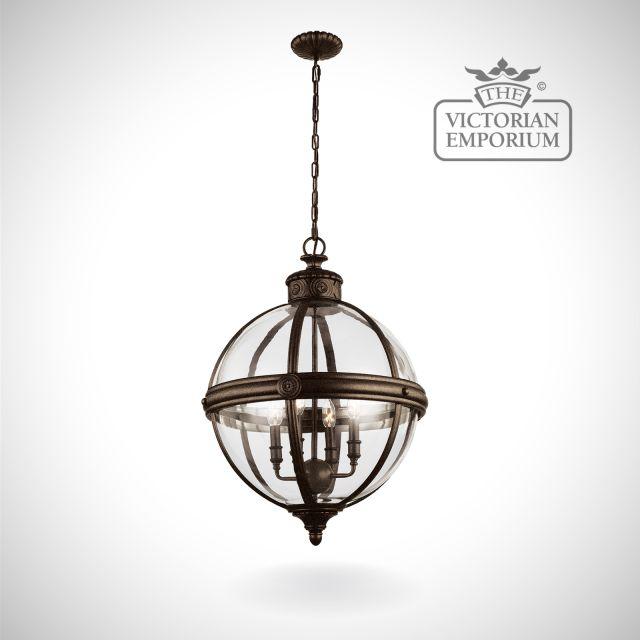 Adam 4 light pendant in British bronze