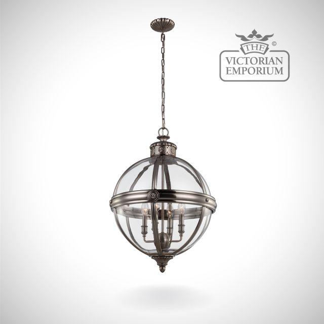 Adam 4 light pendant in Antique Nickel
