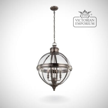 Adam 4 light pendant in Antique Nickel